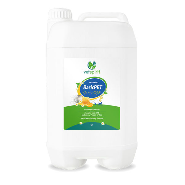 BasicPET Shampoo - Honey & Milk - 5000 ml 1