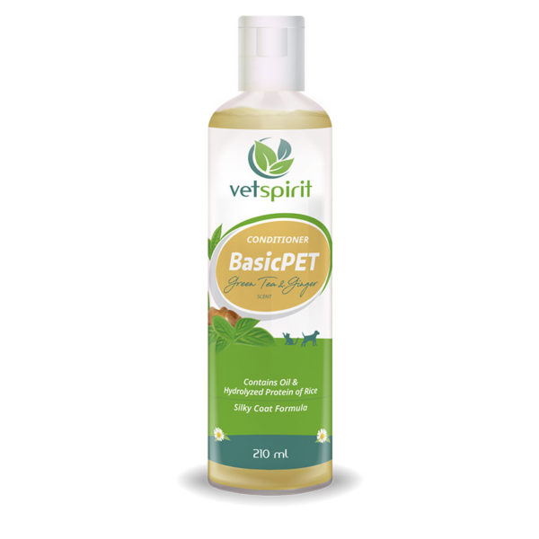BasicPET Conditioner - Green Tea & Ginger - 210 ml 1